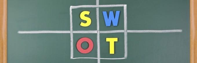 Ondernemingsplan Checklist van Credo: maak een SWOT analyse.